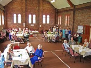 Folk, including carers, enjoying Tea and Chat!