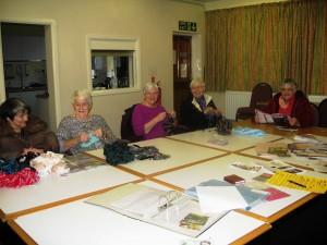 Audrey, Betty, Diane, Joan and Barbara at Chat'n'Craft