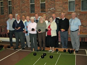 Members of the Adult Institute with their bowls.