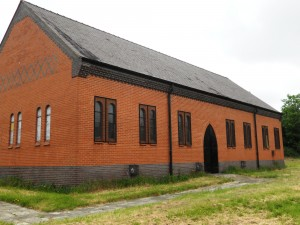 Church Hall viewed from the field.