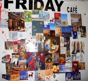 A collage created at Friday Café.