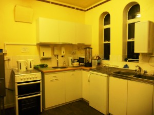 The Kitchen off the Lecture Room.