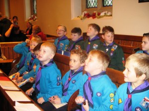 The Beavers at the Nativity and Gift Service