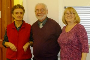 Ann, David and Moira, organisers and leader